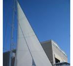 Genova para Superyate en corte triradial realizada en nuestros talleres. Superyacht triradial foresail manufactured in our facility.